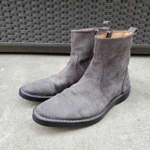 Coach Jeremy gray suede mens leather boots 9M